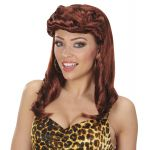 Perruque Pin-up Marron femme