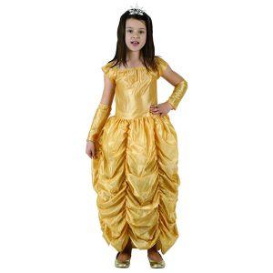 Costume Princesse Robe Dorée Fille-5/6 ans