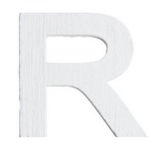 Lettre R en Bois Blanc  - 5 cm