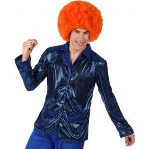 Veste Disco Bleu Brillant Homme-M/L