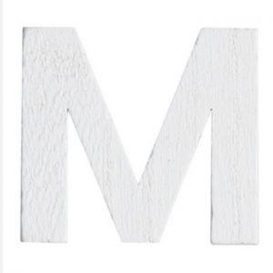 Lettre M en Bois Blanc - 5 cm