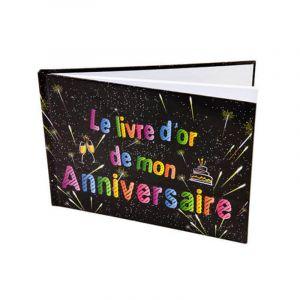 """Livre d'or """"Joyeux anniversaire"""" feux d'artifice"""