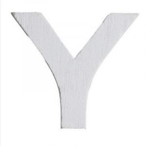 Lettre Y en Bois Blanc - 5 cm