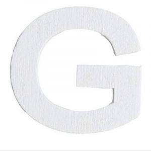 Lettre G en Bois Blanc  - 5 cm