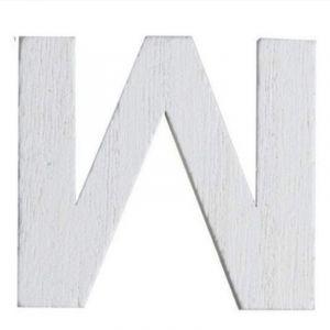 Lettre W en Bois Blanc - 5 cm