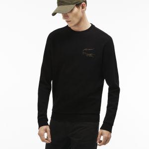 Lacoste Sweatshirt en piqué molleton avec Crocodile Robert George Taille 9 - 4XL Noir/marine