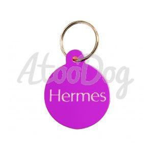 Medaille Ronde Violette Uni Gravee  Violet3 cm