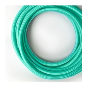 Fil électrique tissé de couleur turquoise vintage look retro en tissu