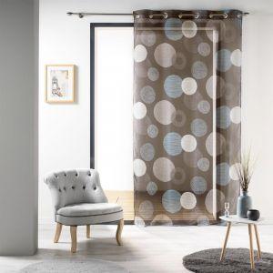 rideau bleu marron comparer 42 offres. Black Bedroom Furniture Sets. Home Design Ideas