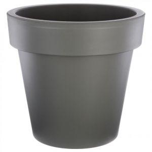 """Pot de Fleurs Plastique """"""""Felicia"""""""" 50cm Gris - Paris Prix"""""""