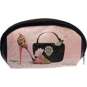 Trousse Maquillage Fashion Rose & Noir - Paris Prix