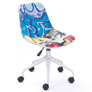 "Chaise de Bureau """"Street"""" Graffiti - Paris Prix"""