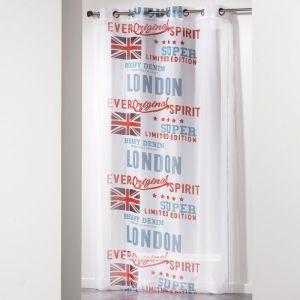 """Rideau Voilage """"""""City London"""""""" 140x240cm Blanc - Paris Prix"""""""