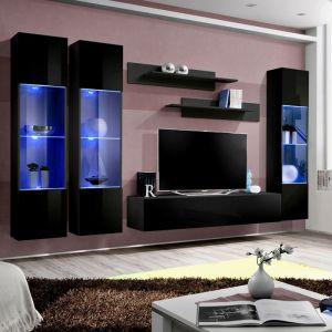 Meuble tv noir 130 cm comparer 38 offres - Fly meubles paris ...
