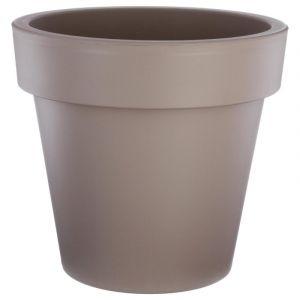 """Pot de Fleurs Plastique """"""""Felicia"""""""" 50cm Taupe - Paris Prix"""""""