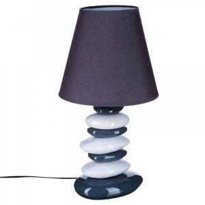 """Lampe """"""""Galets"""""""" Gris & Blanc 55cm  - Paris Prix"""""""