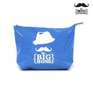 Trousse de Toilette Mr Moustache® Bleu - Paris Prix