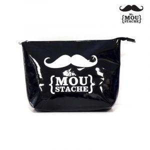 Trousse de Toilette Mr Moustache® Noir - Paris Prix
