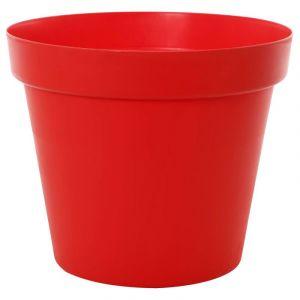 """Pot de Fleurs Plastique """"""""Ansania"""""""" 70cm Rouge - Paris Prix"""""""
