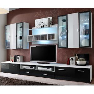 meuble tv panneau 100 cm comparer 38 offres. Black Bedroom Furniture Sets. Home Design Ideas