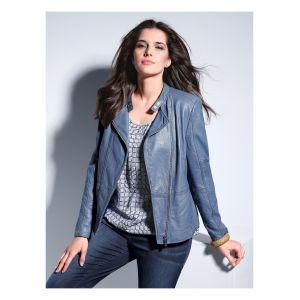 La veste en cuir de Samoon bleu taille 54