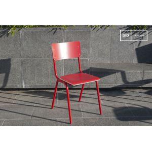 Chaise Skole rouge