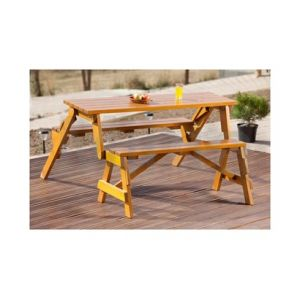 Table banc pliable et transformable en sapin - FORESTA