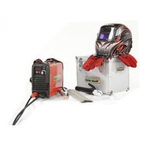 Pack : Poste à l'arc + cagoule flamme + gants de soudeur +électrodes Ø3.2 mm - ELECTROPOWER