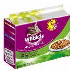Whiskas Mini Menus (Les p'tits plats) 12 x 50 g pour chat - poulet, dinde, volaille en sauce