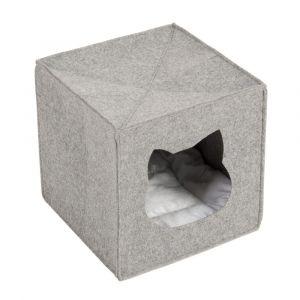 Niche en feutre spécial étagères pour chat - L 33 x l 33 x H 33 cm