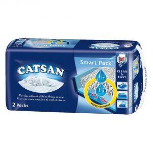 Sac à litière Catsan Smart Pack pour chat - 6 sacs
