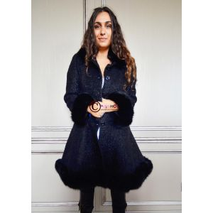 Manteau noir GABRIELA Renard