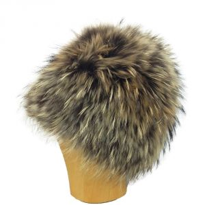 Bonnet-Toque en fourrure de raton-laveur