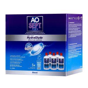 Aosept plus Hydraglyde 5x360ml,5 flacons de 360ml