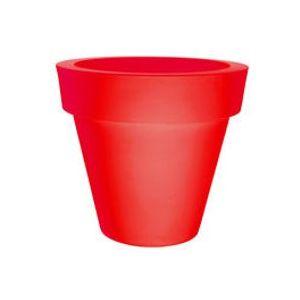 Pot de fleurs Vas-Two - Serralunga Rouge en Matière plastique