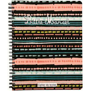 Cahier de texte à spirales - LITTLE MARCEL - Grands carreaux - Design ethnique