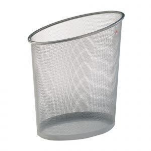 Corbeille à papier Mesh - ALBA - Gris Metal
