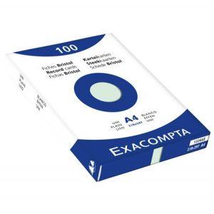 100 fiches Bristol format A4 21 x 29.7 cm - EXACOMPTA - Uni - 5x5