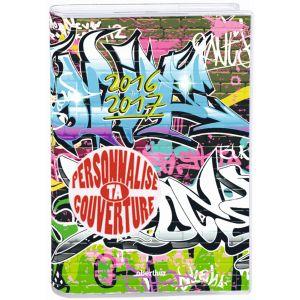 Agenda scolaire journalier personnalisable - OBERTHUR - 12x17 cm - Graffiti