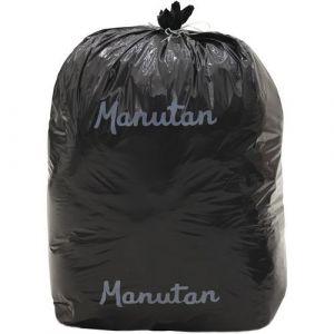 Lot de 500 Sacs-poubelle Manutan 20 microns 30 L coloris noir,