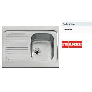 Franke - Evier à poser 1 cuve 1 égouttoir 120 X 60 cm Spit - Inox lisse