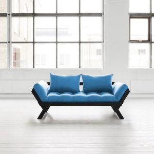 Banquette méridienne noire futon azur BEBOP couchage 75*200cm