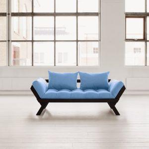 Banquette méridienne noire futon celeste BEBOP couchage 75*200cm