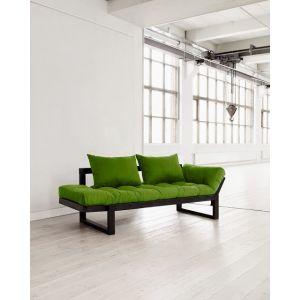 Banquette méridienne noire futon lime EDGE couchage 75*200cm
