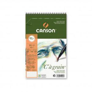 "400060623 - Album spiralé 30 feuilles ""C"" à grain® A5 180g/m², grain fin blanc naturel"