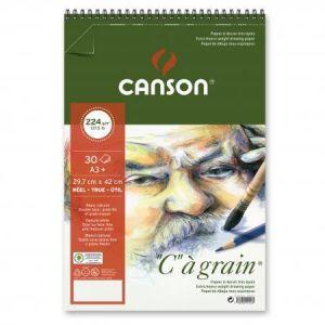 "400060629 - Album spiralé 30 feuilles ""C"" à grain® A3 224g/m², grain fin blanc naturel"