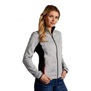 Veste en laine femme, L, gris chiné
