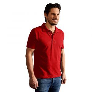 Polo Premium homme, L, rouge feu