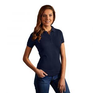 Polo femme classique, S, bleu marine