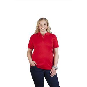 Polo femme en jersey, XXL, rouge feu